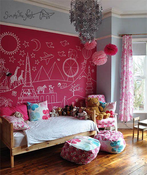 Bedroom Art Mural: 25+ Best Ideas About Girls Bedroom Mural On Pinterest