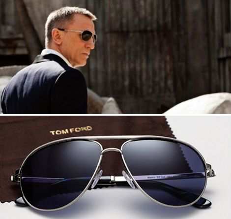 James Bond 007 (Daniel Craig) wears the Tom Ford Marko sunglasses in Skyfall. http://blog.visiondirect.com.au/celebrity-style/james-bond-the-sunglasses-file.html. SCORPARIA ♥