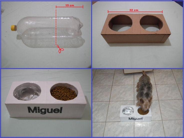 Como fazer um comedouro pra cachorros, e gatos Muito legal