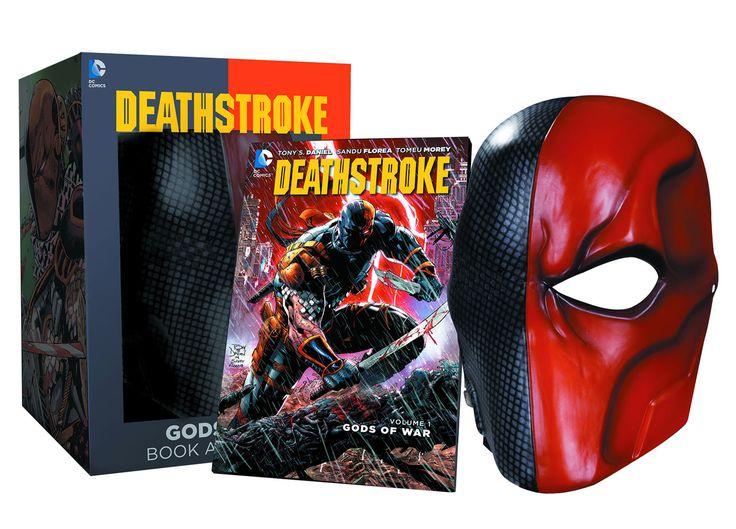 DC Comics réplique masque du Deathstroke and comic