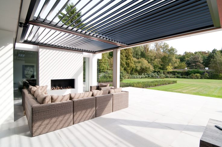 Louvretec Opening Roofs creating a functional, outdoor space. Opening Roofs open to let fresh air flow through and can be closed if the heavens open.