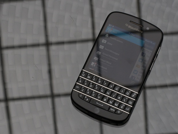 "The BlackBerry Q10 is the first BlackBerry 10 device to ship with the company's iconic physical keyboard – 35 tactile keys beneath a 3.1"" screen."