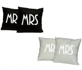 Mr. and Mrs Pillow Covers