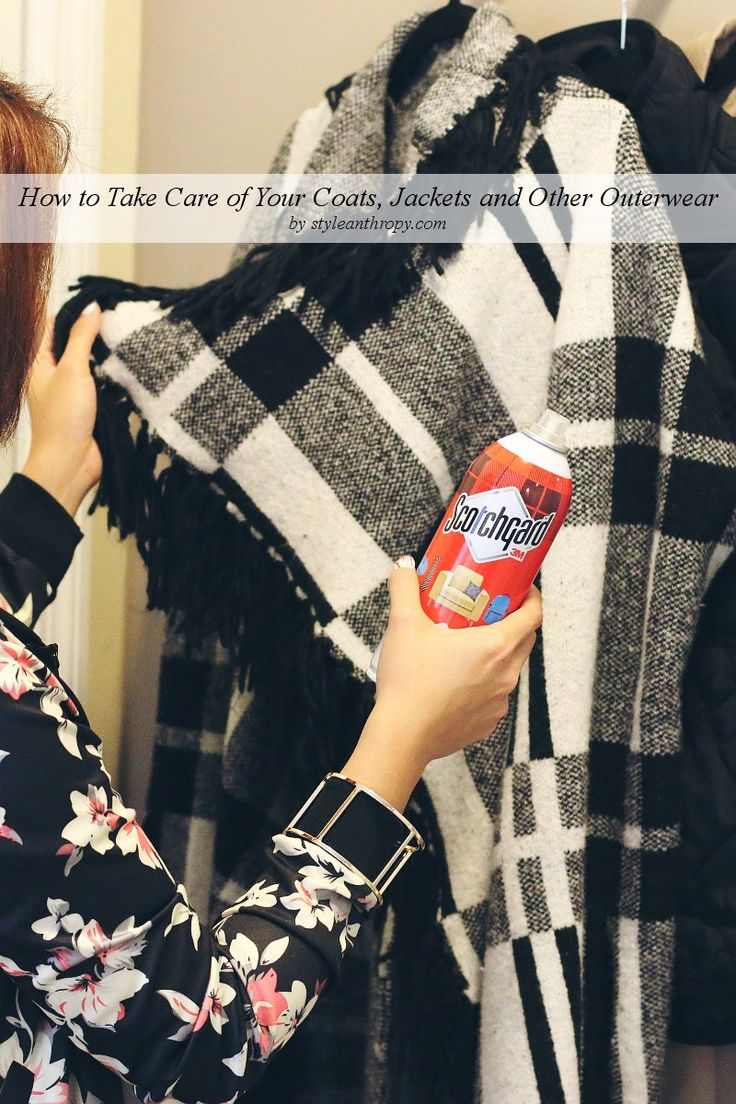 How to care for jackets, coats and other outerwear via @styleanthropy. #ProtectYourEverything [AD]
