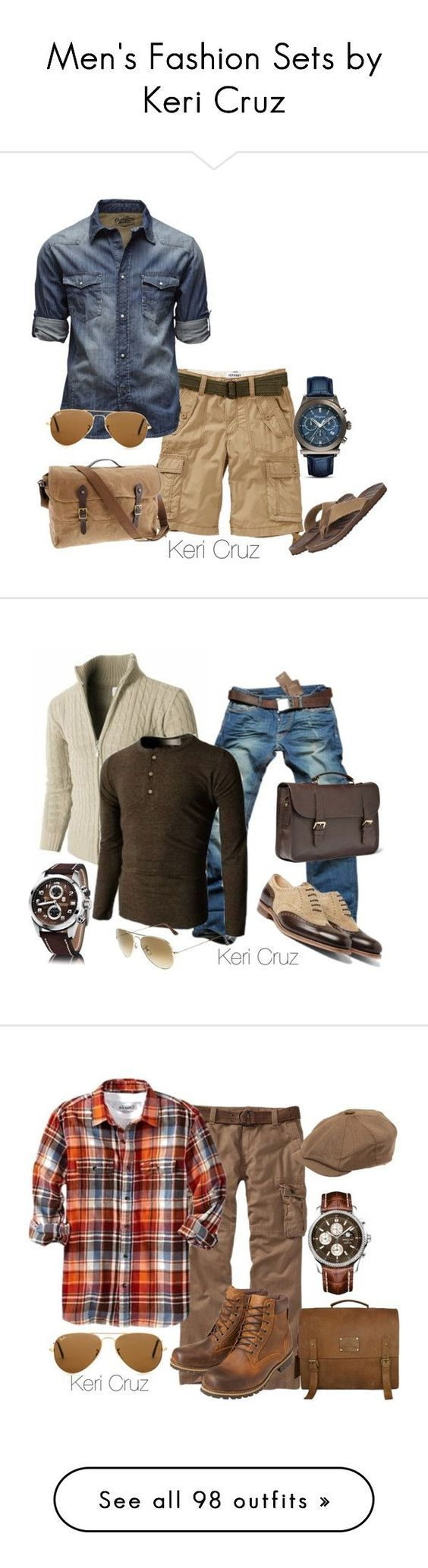 """Men's Fashion Sets by Keri Cruz"" by keri-cruz ❤ liked on Polyvore"