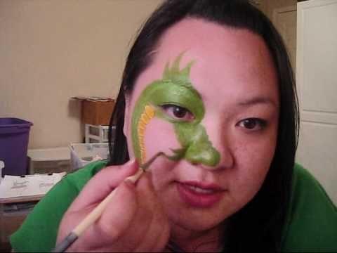 MarelousMask - SIngle Eye Contest - Dragon face painting design