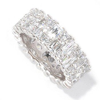 TYCOON for Brilliante 5.78 DEW Prong Set Eternity Band Ring