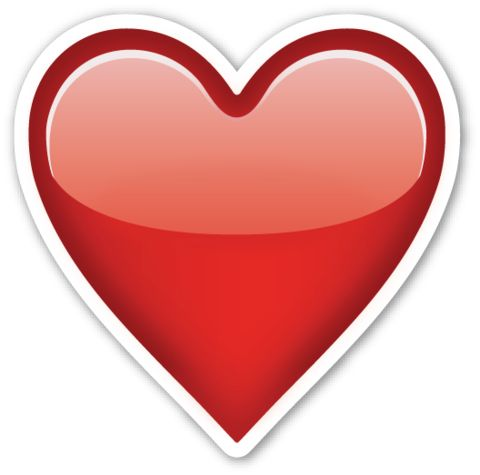 Heavy Black Heart | EmojiStickers.com