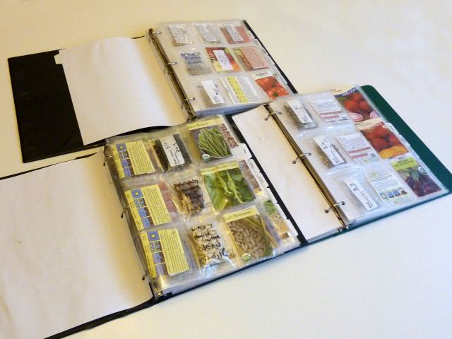 Vegetable Gardening Tips - keep seed packets in a binder for organization and quick reference