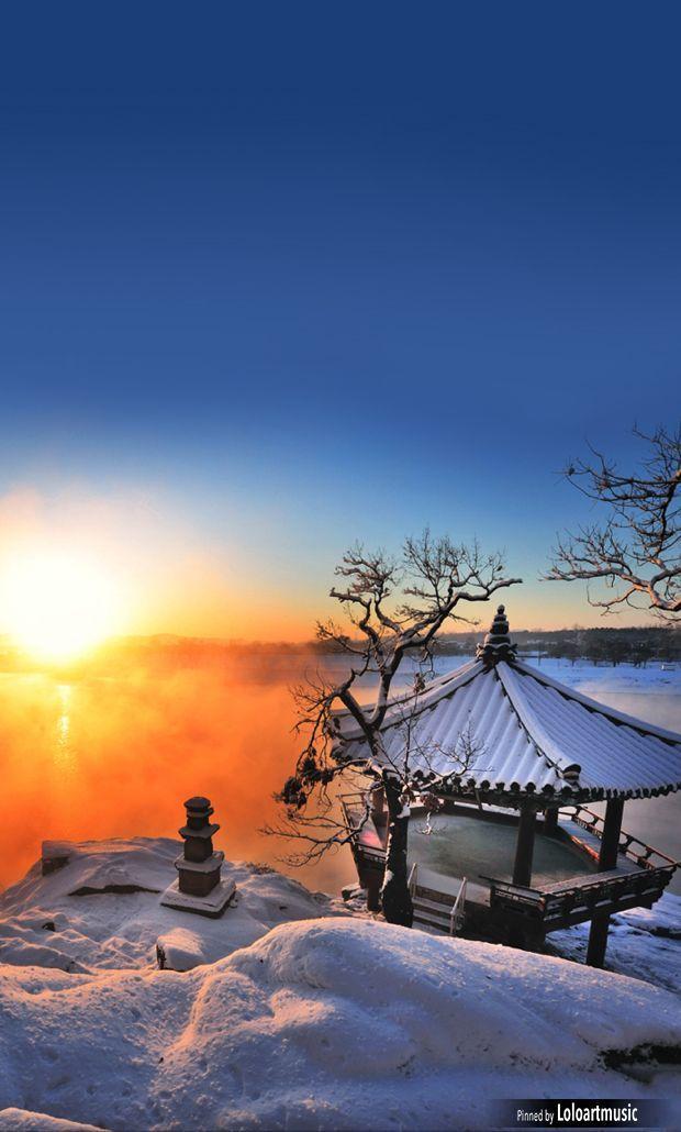 Silleuksa Temple, Yeoju-si, South Korea   Winter in Korea