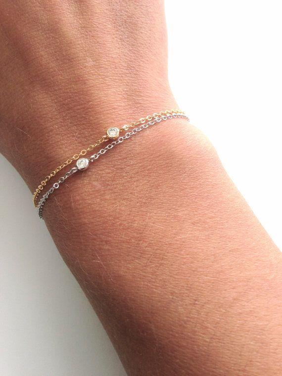 Tiny Crystal bracelet Everyday jewelry by ItsCalledSerendipity, $14.00