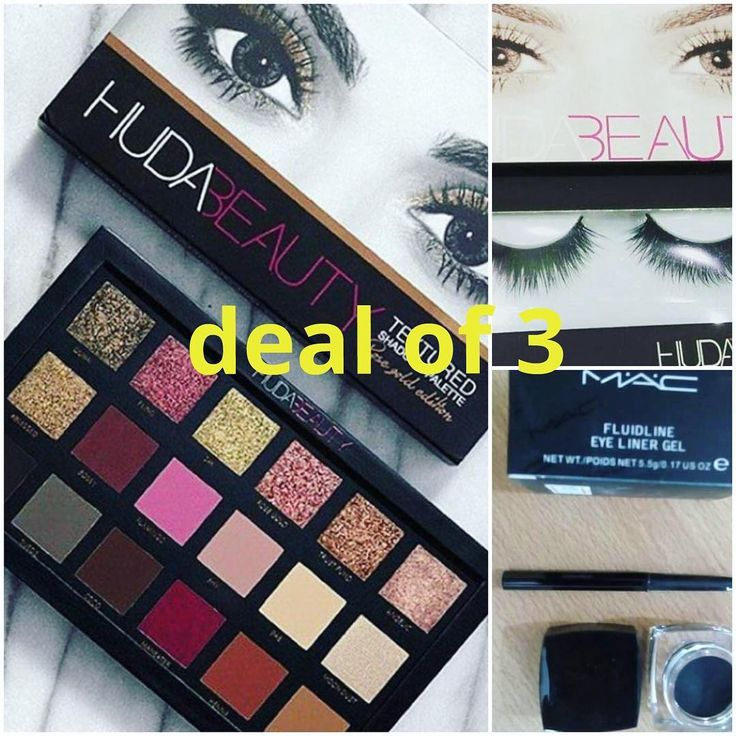 deal of 3 products  1 hudabeauty eyeshades plattee  2 hudabeauty eyelashes  3 mac eye liner  for price and order message me✔�� cash on delivary �� . . #lipstick #palettes #lip #concealer #foundation #eyeliner #eyes #lash #lashes #eyebrows #likes #instalike  #tagsforlikes # #fashion #gloss #mascara  #primers #base #dgbeauty #glitter #golden http://ameritrustshield.com/ipost/1549418330190927518/?code=BWAo8Mbglae