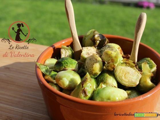 Cavolini di bruxelles all'aceto con la friggitrice ad aria, da mangiare caldi o freddi. #ricette #food #recipes