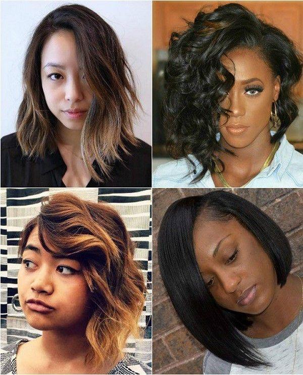 Асимметричные стрижки на средние волосы 2017-2018 фото идеи