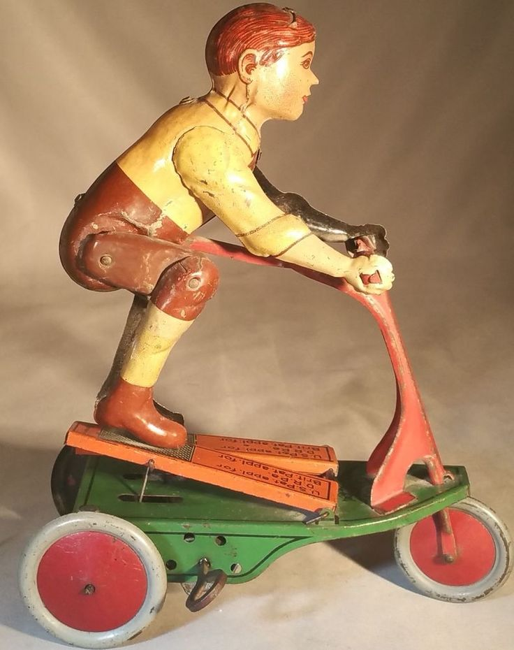 Walmart Toys Scooters For Boys : Prewar fischer tin clockwork quot oh boy scooter german