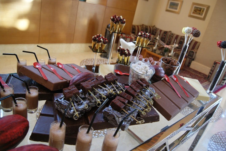 -Hand crafted white and dark chocolate delights that change daily to provide an exquisite chocolate taste experience at Mövenpick Hotel Jumeirah Beach in Dubai.
