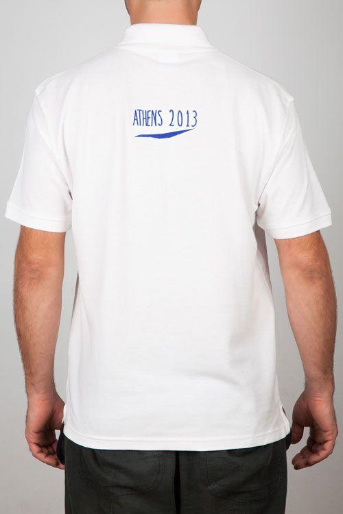 Men Polo Shirts : Man Polo White - ACM Logo