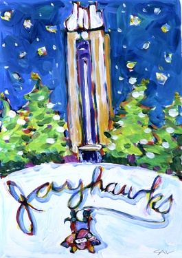 Jayhawks in winter, by Mike Savage