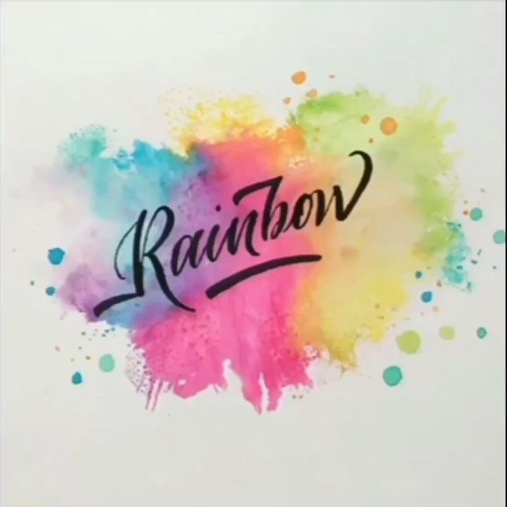 Lililettering On Instagram Tombow Brushpen Rainbow Colorsplash