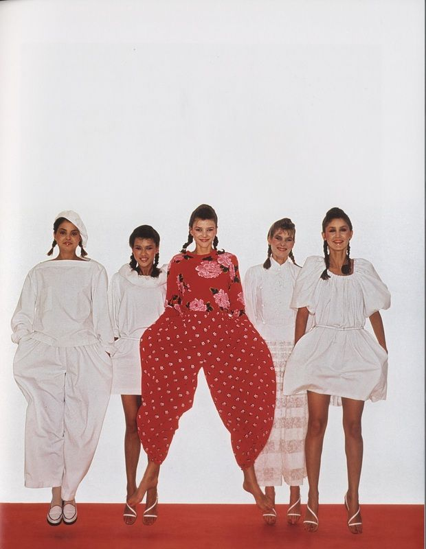 Kenzo Spring/Summer Campaign, in Vogue, 1980
