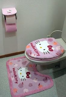 Definitely love hello kitty in the bathroom!