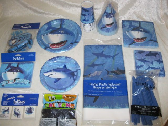 Shark Party Theme From Discount Party Supplies Review & Giveaway