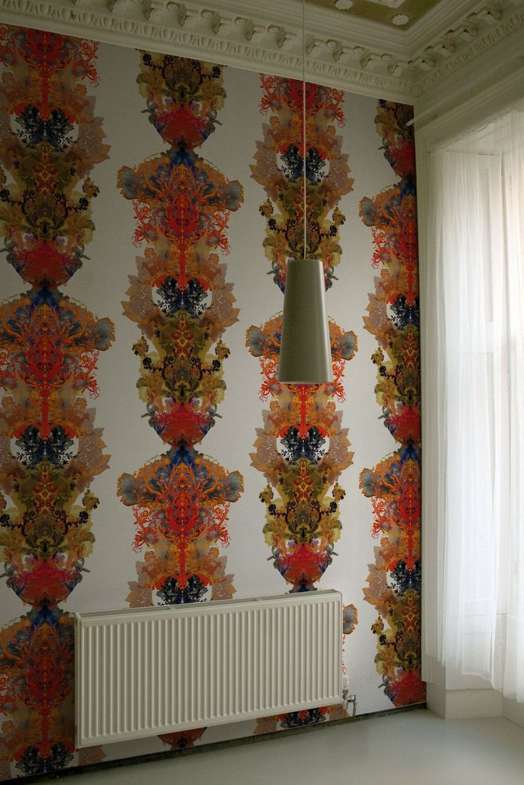 Timorous Beasties Wallcoverings - Grand Blotch Damask Solid Wallcovering