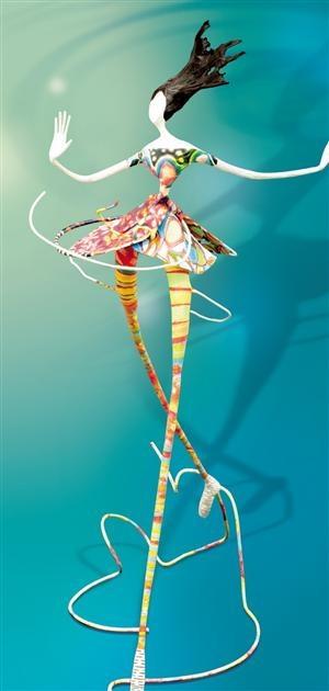 Zo mooi! IJzerdraad en papier mâché « Ode » par Lauref, sculpteur sur papier. Photo Matthieu Lombard