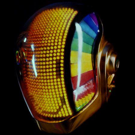 Daft Punk Helmet, would make a cool robot head. LED Face