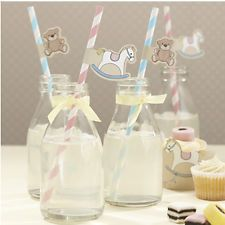 Rock A Bye Baby Shower/ Birthday Party - 25 Paper Drinking Straws -