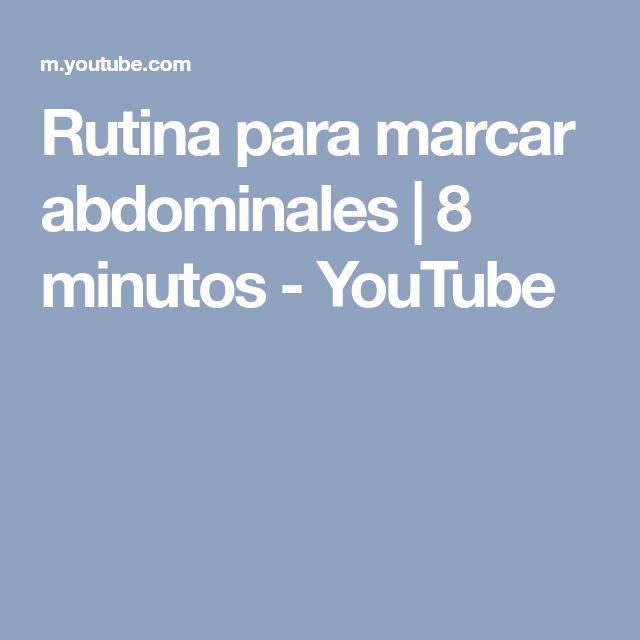 Rutina para marcar abdominales | 8 minutos - YouTube