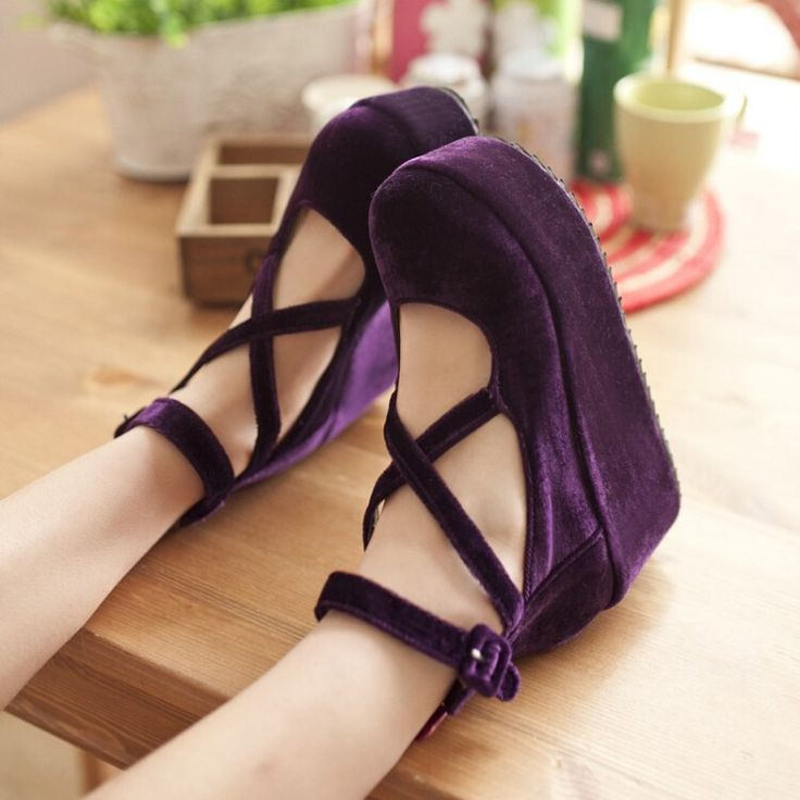 Japanese sweet lolita platform shoes