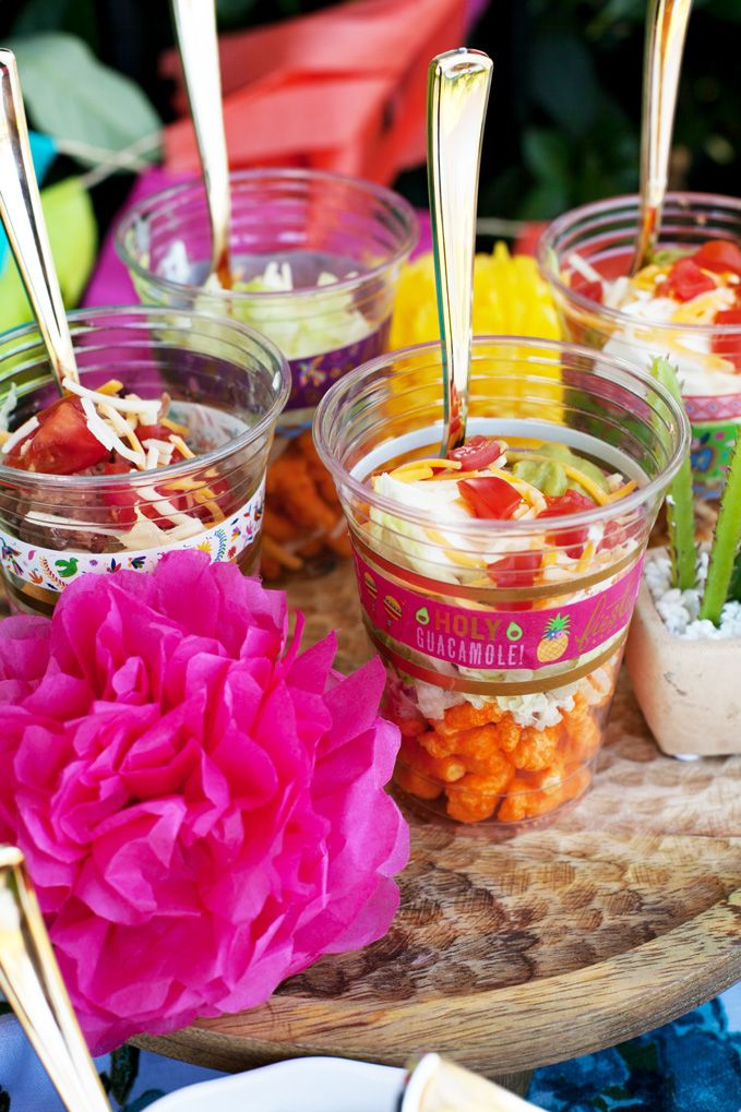 Walking Taco Bar Outdoor Party Idea Funtastic Friday Link Party