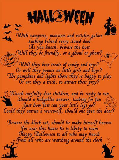 halloween poem - Good Halloween Poems