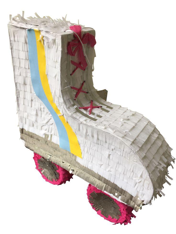 Roller-skate piñata.