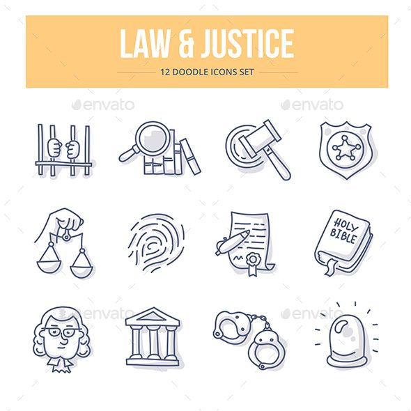 Law & Justice Doodle Icons. Download here: http://graphicriver.net/item/law-justice-doodle-icons/14856596?ref=ksioks