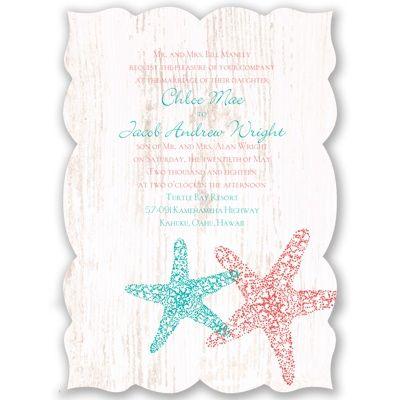 Starfish Wedding Invitation   Distressed, Antique, Sea Horses, Sand At  Invitations By Davidu0027s Bridal