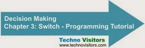Programming tutorials - switch: Chapter 3 | Techno Visitors - C, C++, C# Read 5 programming tutorials with full information relating to SWITCH statement.
