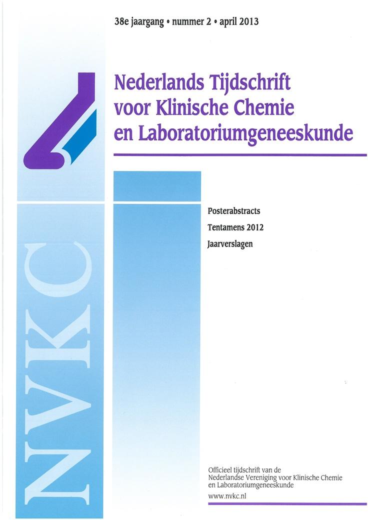 Titel: Nederlands Tijdschrift voor Klinische Chemie en Laboratoriumgeneeskunde  Toegang: gedrukt & online