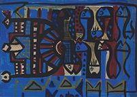 Composition by Bedri Rahmi Eyuboglu