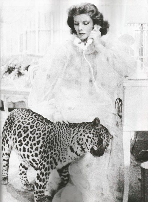 """""""Dear Susan, I'm sending you Baby, a leopard I picked up. Guard him with your life. He's three years old, gentle as a kitten and likes dogs."""" """"I wonder whether Mark means that he eats dogs or is fond of them. Mark's so vague at times."""" Bringing up Baby"""