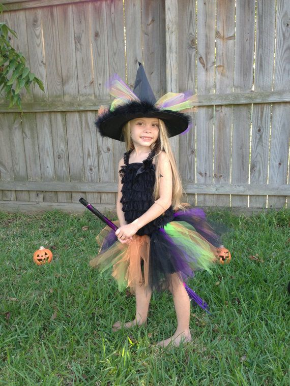 Romper Witch Tutu Costume  XX Large  5 to 6 by AvaBellesCloset, $42.50