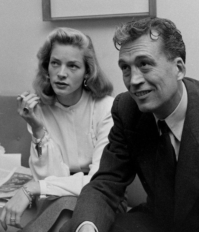 Lauren Bacall with director John Huston