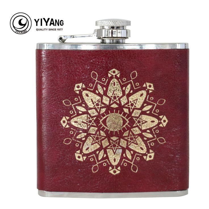 6oz stainless steel hip flask whiskey for alcohol liquor honest drink bottle #Affiliate