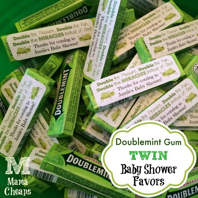 doublemint gum twin baby shower favors