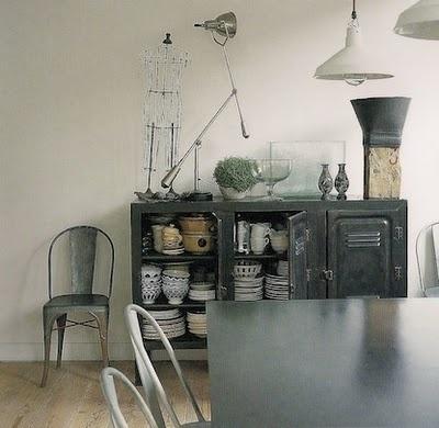 Salle à Manger Esprit Indusu0027   Chaise Tolix Et Luminaires De Récup #Industrial  Style
