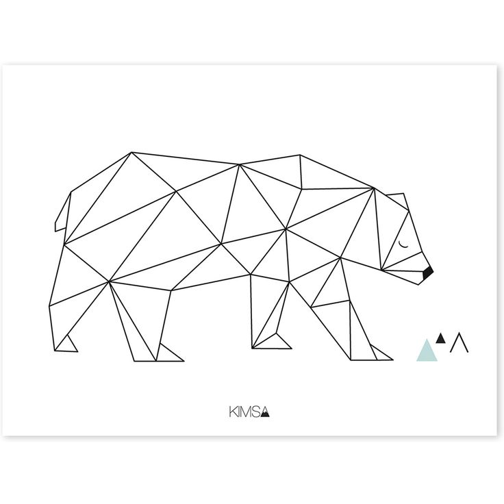Affiche Origami Ours