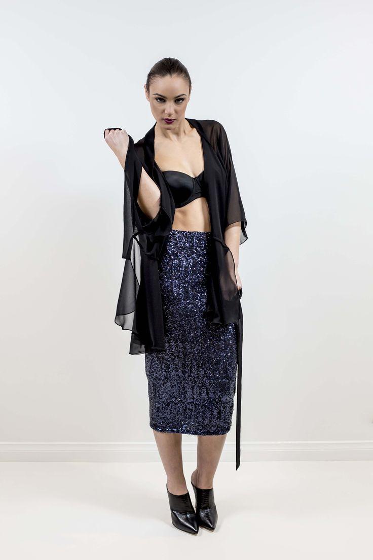 Leiela Stretch Pencil Skirt