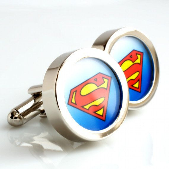 Superman Cufflinks - Comic Book and Movie Super Hero