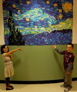 Ideas: WES Kindergarten Art: Artist: VINCENT VAN GOGH--maybe have as an option for great resters during rest. A project every six weeks.